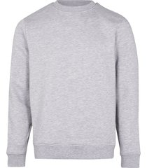 river island mens grey marl slim fit basic sweatshirt