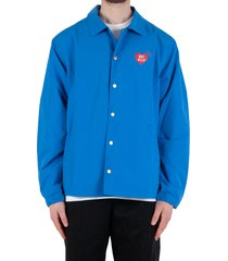 coach jacket - light blue/red