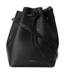 mansur gavriel bolsa tiracolo de couro - preto