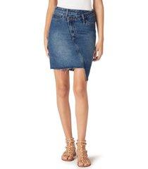 sam edelman the riley cotton asymmetrical denim skirt