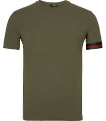 round neck t-shirt t-shirts short-sleeved groen dsquared2