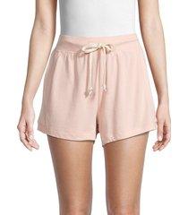 atwell women's eco cerise shorts - peach - size l