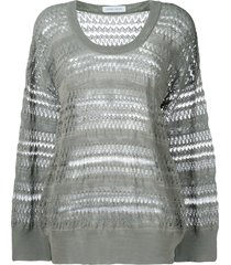 christian wijnants panelled oversized sweater - grey