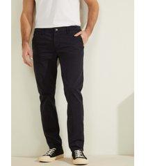 guess men's slim-leg lonta twill pants