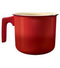 leiteira intense 14cm cerâmica vermelha alci7275-vm euro home