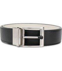 bottega veneta reversible textured belt - black