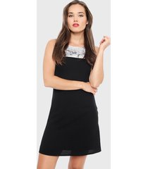 vestido ash largo negro - calce regular