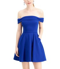 city studios juniors' off-the-shoulder skater dress