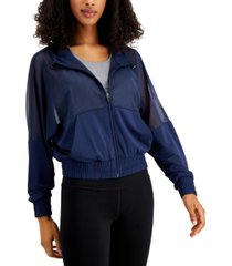 ideology hooded mesh jacket, created for macy's