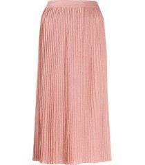 elisabetta franchi fine knit skirt - pink