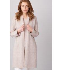 luxe cashmere vest grofgebreid