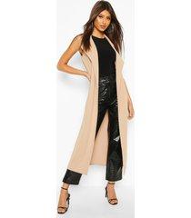 sleeveless collared kimono, stone