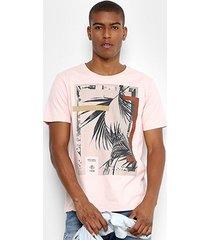 camiseta forum folha quadro masculina