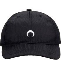marine serre hats in black polyester