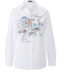 blouse in overhemdmodel lange mouwen van mybc wit