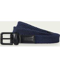 scotch & soda braided belt with leather finishes