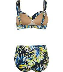 bikini maritim marinblå::grön::gul
