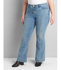 lane bryant women's signature fit flare jean - medium wash 26s medium denim