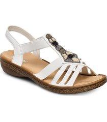 628g5-80 shoes summer shoes flat sandals vit rieker
