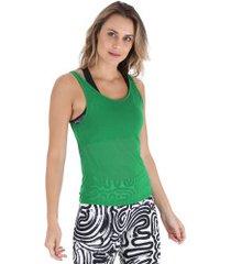 camiseta regata oxer leve - feminina - verde escuro