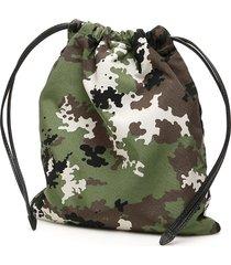 miu miu camouflage-printed pouch
