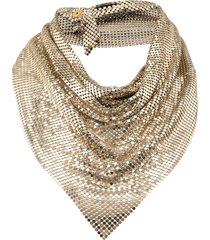 paco rabanne triangle scarf - gold