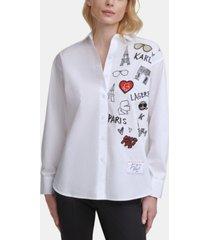karl lagerfeld paris iconic motif shirt