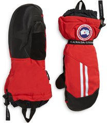 men's canada goose snow mantra 3-in-1 600 fill power down mittens, size medium - red