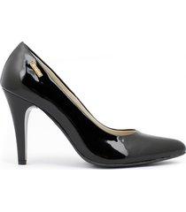 skórzane szpilki zapato 035 czarny lakier