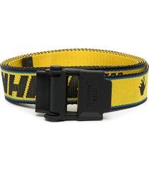 hybrid industrial logo belt, black and yellow