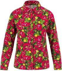 blutsgeschwister blouse rockabella longsie fuchsia