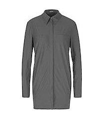 marc cain stijlvolle lange blouse zwart