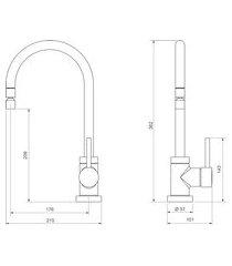 misturador de mesa para cozinha monocomando deca 2271.c72 spin cromado