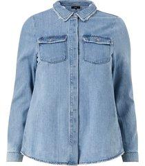 jeansskjorta jjoy l/s shirt