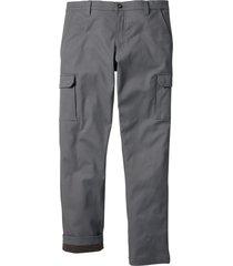 pantaloni cargo termici regular fit (grigio) - bpc bonprix collection