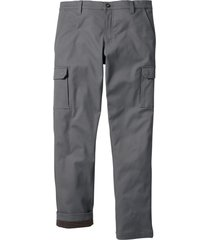 pantaloni cargo termici regular fit (grigio) - bpc bonprix collection