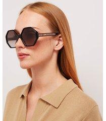 chloé women's octagon frame acetate sunglasses - black