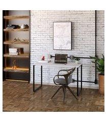 mesa de escritório kuadra branca 120 cm