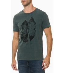camiseta masculina estampa folha verde escuro calvin klein jeans - g