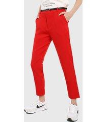 pantalón rojo active