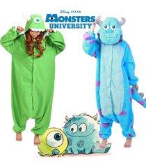 adult monsters@mike wazowski&sulley monsters costume pajamas onesie sleepwear***