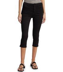 frame women's le pedal cropped jeans - film noir - size 29 (6-8)