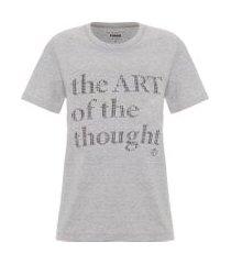 camiseta estampada - cinza