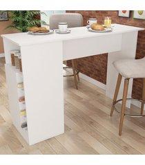 bancada de cozinha masters 1 porta gourmet com adega branco - pnr móveis