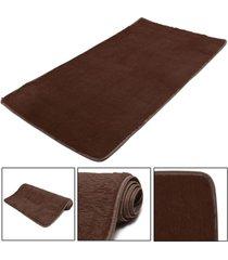 mat moda dormitorio estera del piso mullido manta antideslizante salón del hogar del amortiguador alfombra negro - café