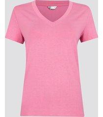 t-shirt med v-ringning - rosa