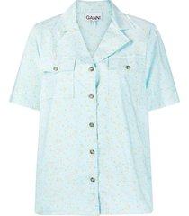 f5905 printed cotton poplin short sleeve shirt