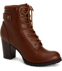 style & co cassyn lace-up ankle booties, created for macy's women's shoes