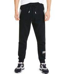 puma men's drawstring jogger pants - black - size s