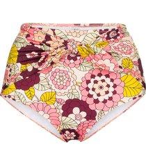 dodo bar or kayla floral print bikini bottoms - pink